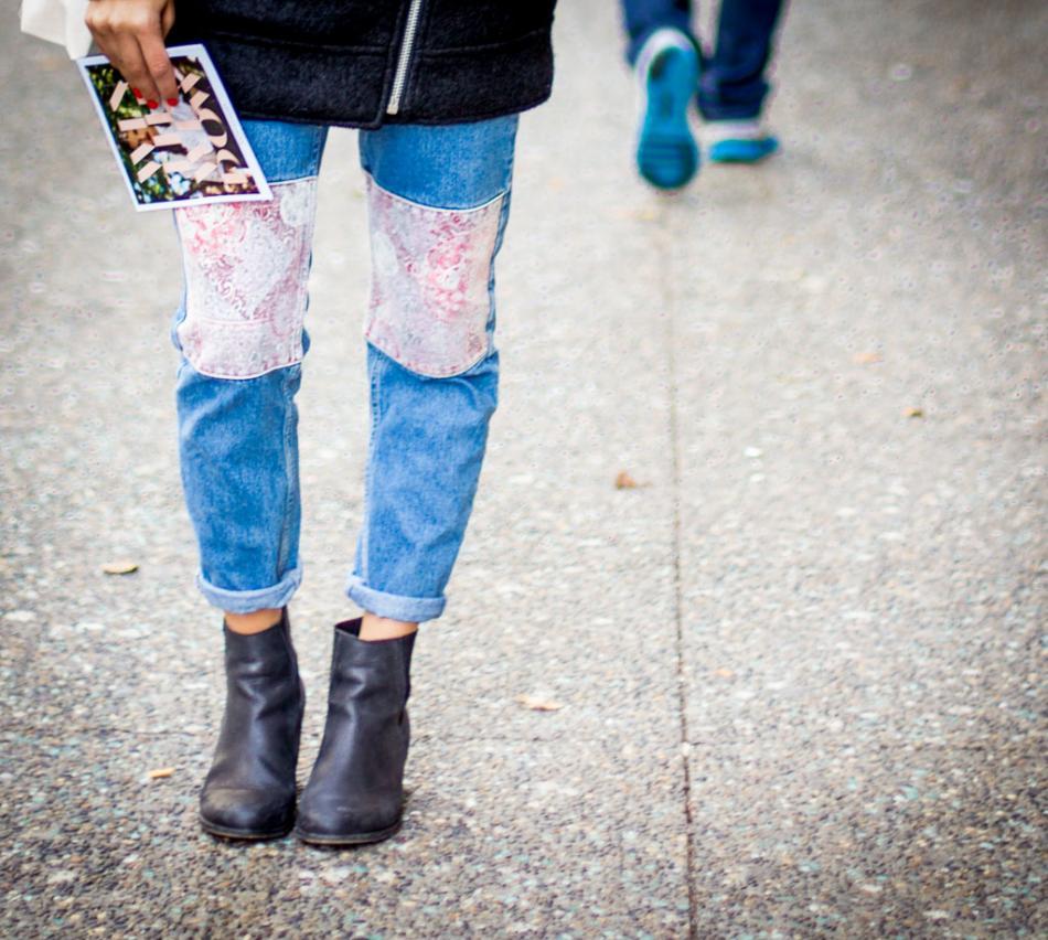 4. Patchwork Jeans Memberikan Kesan Kasual Yang Modis