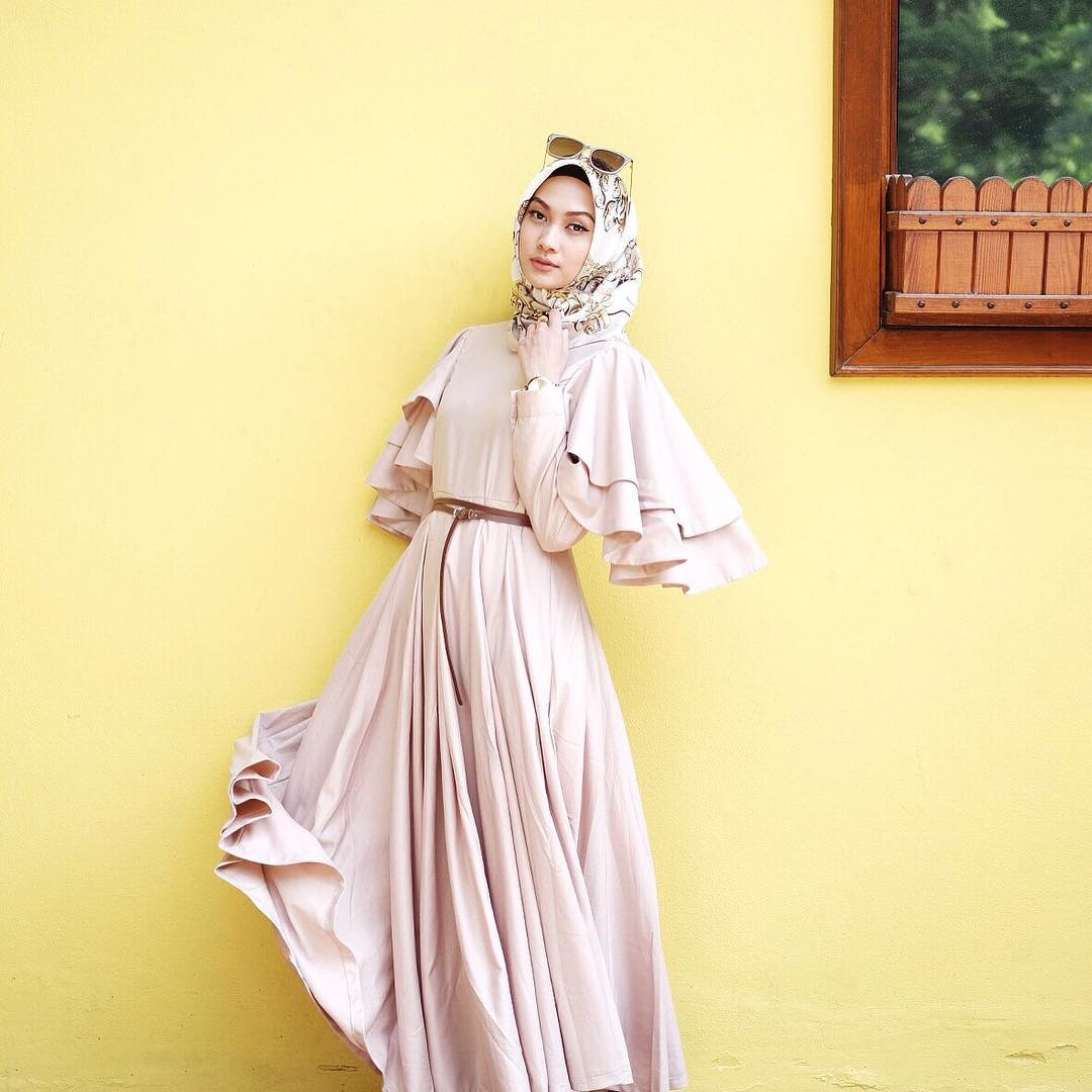 Model Baju Dress Panjang Simple 1