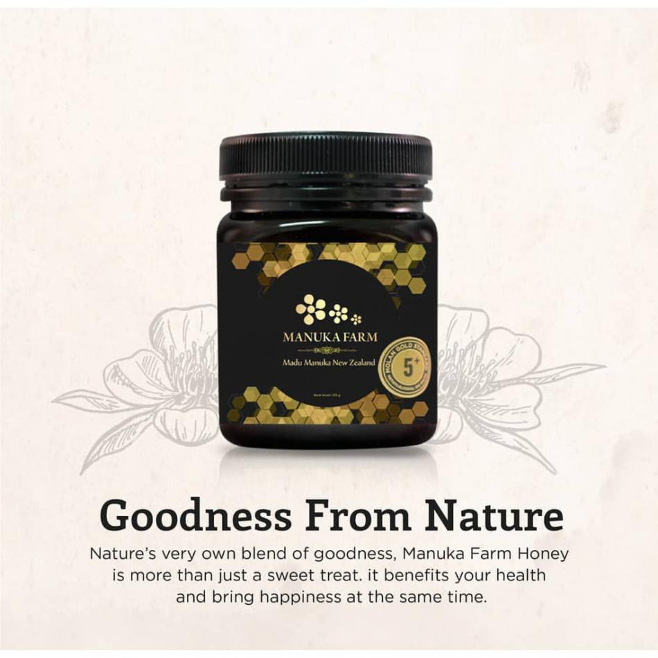 Manuka Farm Mgs 5+ (250 G), Madu Asli Dari New Zealand Yang Sangat Baik Untuk Kesehatan